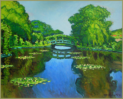 giverny monet's water garden times of day c. gerlach