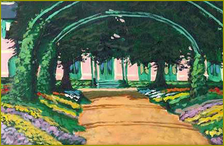 The Front Walk – Monet's House: Giverny