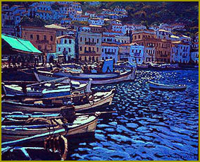 Rhythms in Blue, In the Harbour, Ithion, Greece
