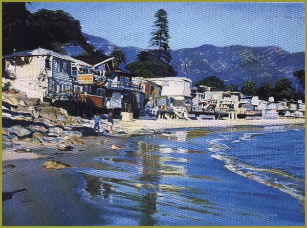 Christopher gerlach paintings oils acrylics california colorado walking on the beach mirimar montecito publicscrutiny Choice Image
